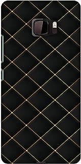 AMZER Slim Fit Handcrafted Designer Printed Hard Shell Case Back Cover for HTC U Ultra - Golden Elegance