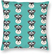Pillowcases Schnauzer Head Dog Head Dogs Pets Pet - Turquoise for Sofa Bedroom livingroomTwo Sides Printing 18x18 inch