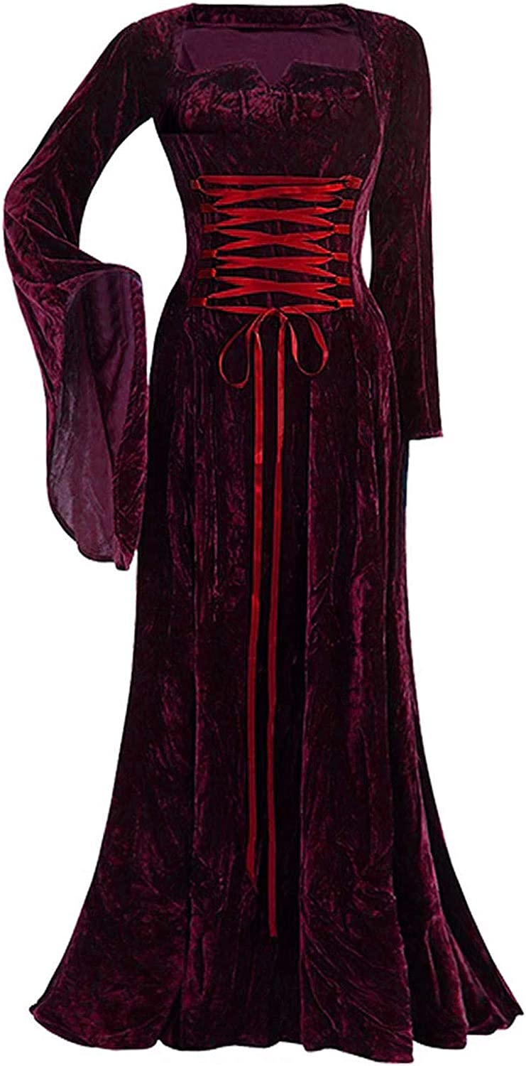 CANDITY Women's Medieval Renaissance Sleeve Bandage Costume Long Easy-to-use Classic
