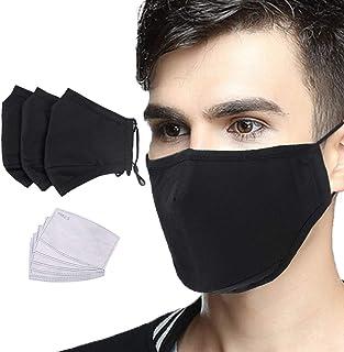 IBLUELOVER 3 szt. maska przeciwpyłowa z filtrem z węglem aktywnym PM2.5 ochrona przed kurzem maska na usta nadająca się do...