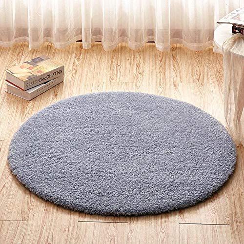 Cestbon Wohnzimmer Büro Fester Flockiger Runder Teppich Teppiche, Für Zu Hause, Büro Und Wohnzimmer,Grau