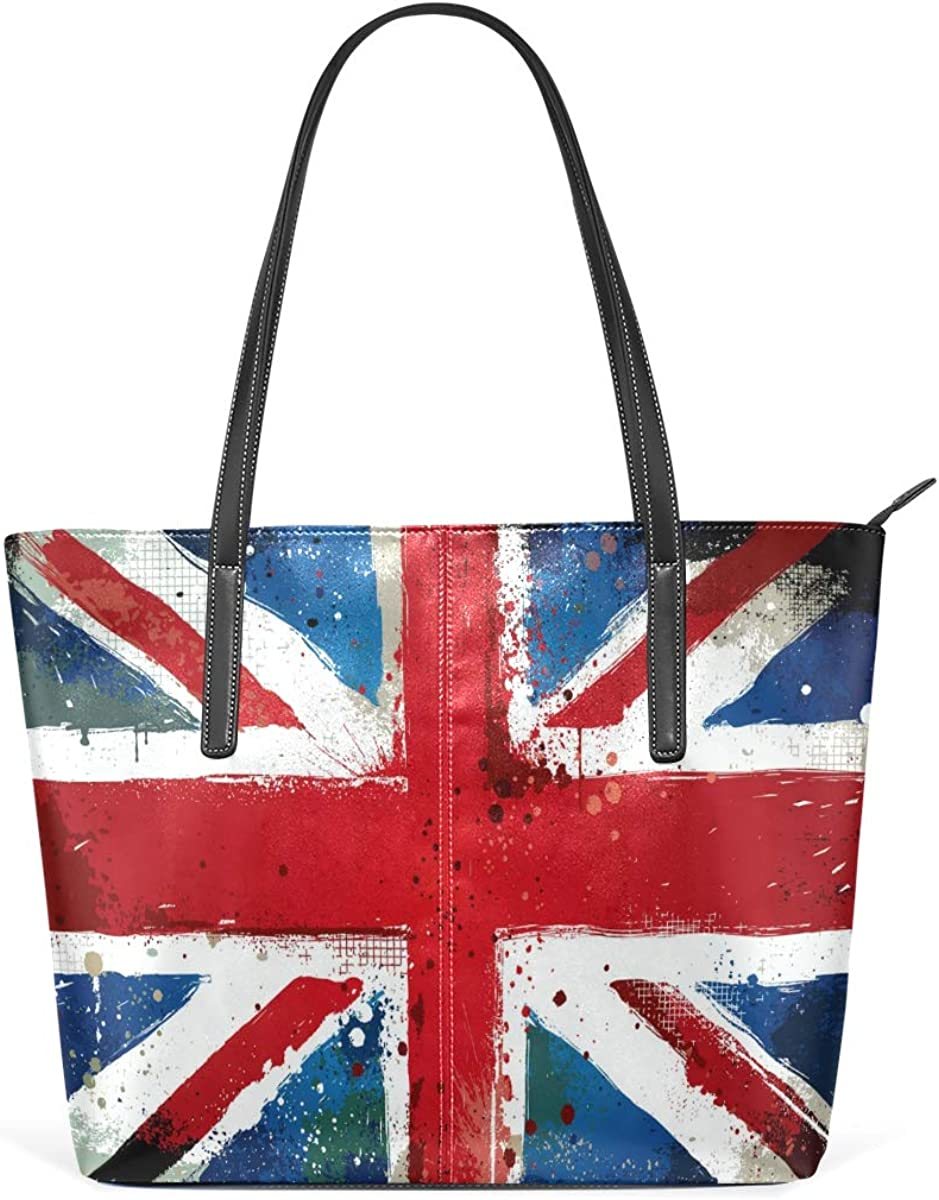 British Flag safety Leisure Fashion PU for Women Leather Large Max 53% OFF Handbag