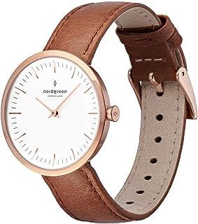 Nordgreen Infinity - Reloj analógico de cuarzo con correas intercambiables de cuero o malla