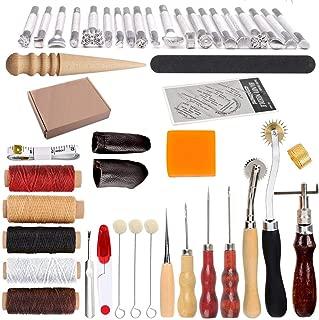 Herramienta de piel de mano resistente y duradera herramienta de cuero de acero inoxidable para tallado de cuero Hatisan-Pro juego de 8 herramienta de manualidades