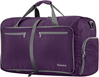 Gonex 60L Foldable Travel Duffel Bag Water & Tear Resistant, Purple
