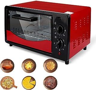 AFDK Mini horno de 12L, con puerta de vidrio de tres capas, horno eléctrico de 500 W, horno múltiple de múltiples cocinas, control de temperatura ajustable, apagado automático del temporizador de 60