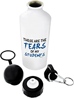 ThisWear Teacher Tears of My Students Gift Aluminum Water Bottle with Cap & Sport Top