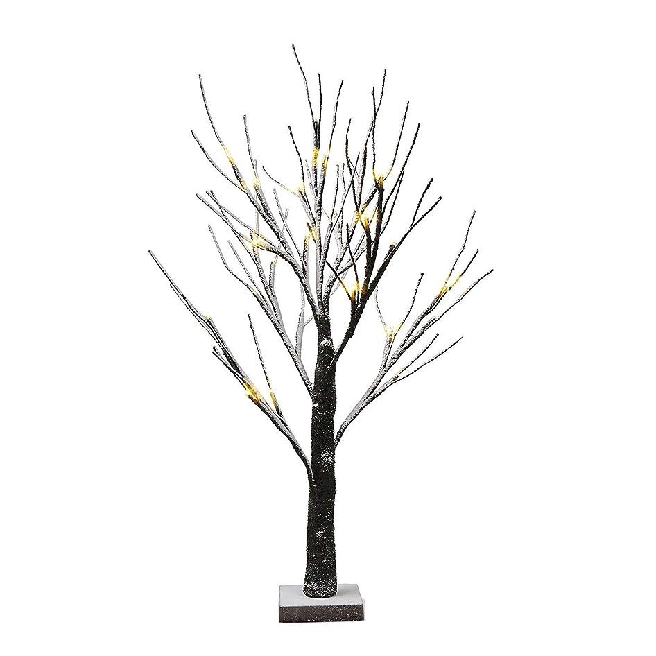 あえぎ販売計画注入するVanthylit 60CM 24 LED卓上小枝ツリーライトクリスマス/パーティー/結婚式/祭りのための除雪電池式雪ツリー装飾