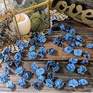 Wedding Sweetheart Table Decor, Rustic Bridal Shower Decorations, Table Setting Ideas for Party, Artificial Baby's Breath, Dusty Blue Flower Confetti