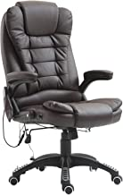 Massage Office Chair, High-Back Leather Executive Chair with Adjustable Heating and Ergonomic Rotation and Vibration, Home...