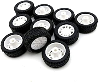 YJZ 4Pcs 38mm 1:20 Rubber Tire Model Wheel DIY Robot Accessory Toy Parts for RC Car