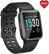 ANGGO Smart Watch for Android iOS Phones, 【2019 Version】 Smartwatch for Women Men IP68 Waterproof Fitness Tracker Watch with Heart Rate Monitor, 45 Days Standby,Compatible with Apple iPhone Samsung