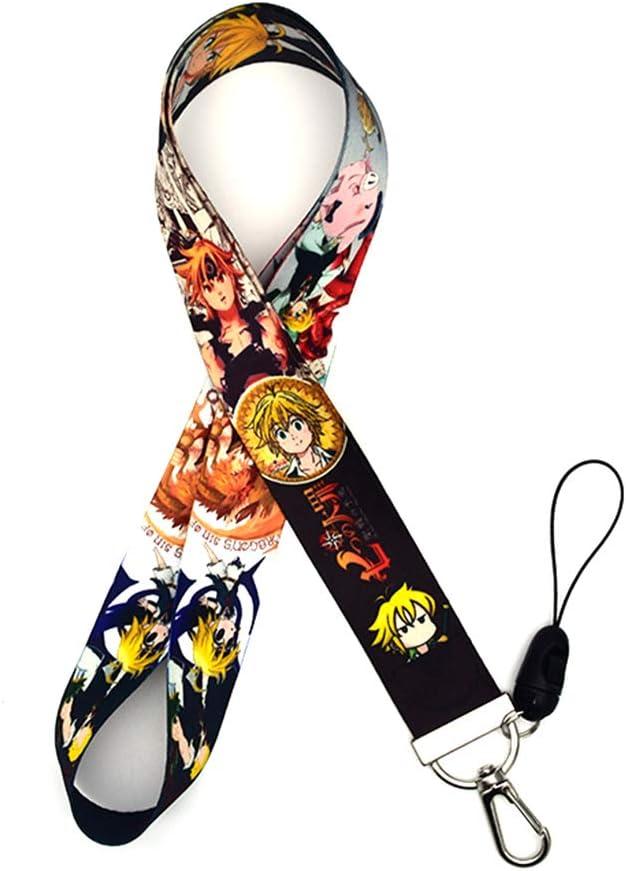 Sgot The Seven Deadly Sins Lanyard Anime Schlüsselband Umhängeband Für Id Card Ausweise Namensschilder Key Handy 45cm Black Küche Haushalt