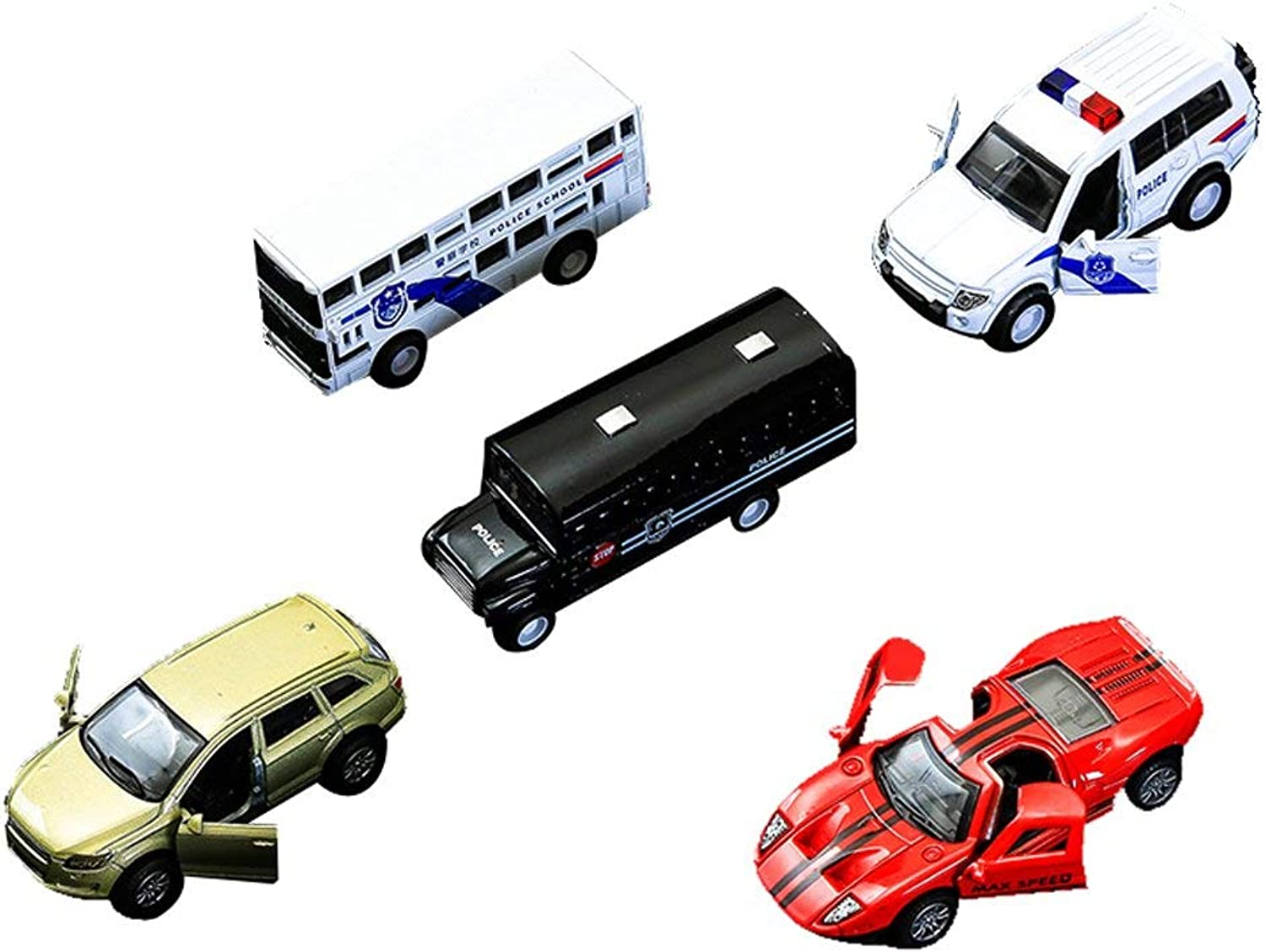 5 Pieces 1 64 Mini Pull Back Model Plastic Car Truck Vehicle ToysBirthday Christmas Gift for Kids Cars Toys Alloy Model Cars 1