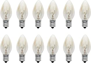 10W Light Bulb Incandescent Tungsten Night Lamp Bulb - E12 Small Screw Incandescent Lamps, Clear Candle Light Bulbs, 220-240V