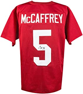 Christian McCaffrey Autographed Stanford Custom Red Football Jersey - JSA COA
