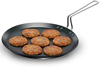 Futura IQFT30 Nonstick 12-Inch Flat Tava Griddle for Induction, Electric and Gas Stove