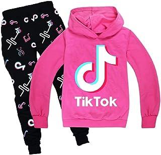 Pants Age 3-14 UK Tik Tok Kid Girls Boys Trousers Suit Long Sleeve Hoodies Tops