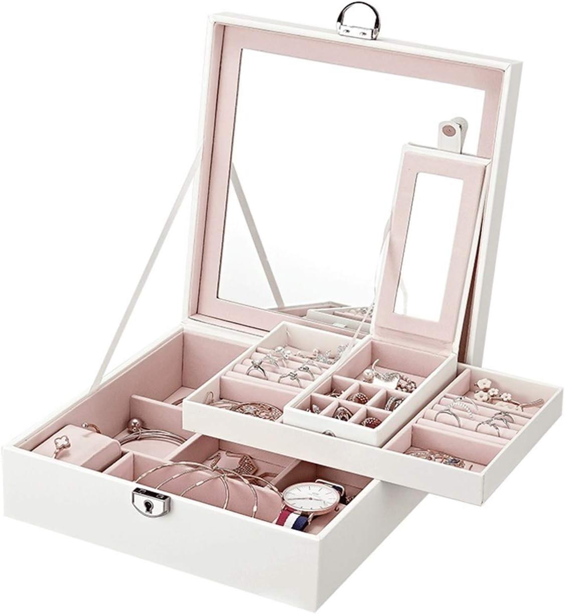 dandanshop Jewelry Box Albuquerque Mall European Brace Storage Excellent Large-Capacity