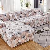 WXQY Funda de sofá Multifuncional para Sala de Estar Funda de sofá geométrica elástica combinación protección para Mascotas Funda de sofá Antideslizante A1 2 plazas