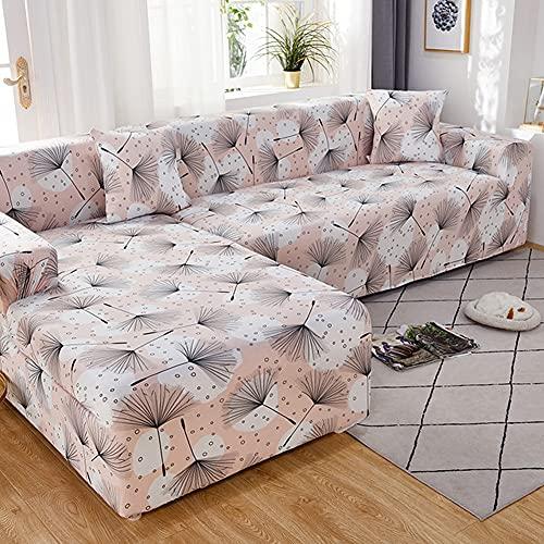 Funda de sofá geométrica elástica para Sala de Estar, sofás Ajustables, Fundas para Chaise Longue, sofá seccional, sofá de Esquina, Funda A1, 4 plazas