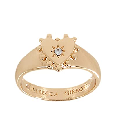 Rebecca Minkoff Studded Heart Pinky Ring (Gold) Ring
