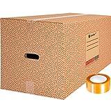 packer PRO Pack 10 Cajas Carton para Mudanzas y Almacenaje Ultra Resistentes con...
