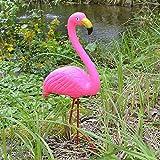 BURI Gartenstecker Flamingo 56cm Teichdeko Gartenfigur Teichfigur Gartendeko Vogel