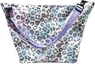 """iscream Snow Leopard Weekender 23.5"""" x 16"""" x 9"""" Travel Tote Bag with Adjustable Strap"""