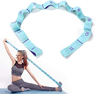 Freewalk Exercise Strap, Upgraded Yoga Stretch Assist Strap with 11 Numbered Loops, Washable, Easy to Carry and High Elast...