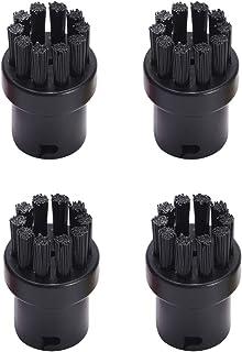 Huayuwa Lot de 4 brosses rondes de nettoyage de rechange pour nettoyeur vapeur Karcher SC1 SC2 SC3 SC4 SC5 SC7 (Noir)