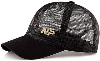 PPCP New Hat Male Black Outdoor Breathable Visor Full Net Baseball Cap Mesh Cap Female Summer Cap (Color : Black)