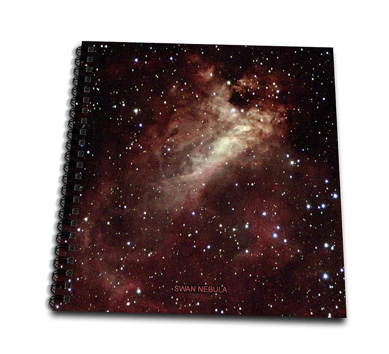 3dRose Galaxy Swan Nebula-Mini Notepad, 4 by 4-inch (db_76813_3)