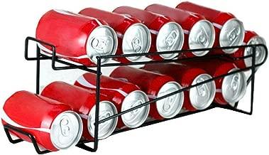 Neat-O Stylish Sturdy Steel Can Beverage Dispenser Rack Organizer, Black (Dispenser)