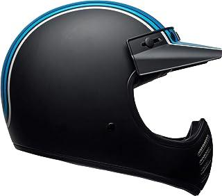 BELL Helm Moto-3 3-Stripes - Silber/Schwarz/Blau
