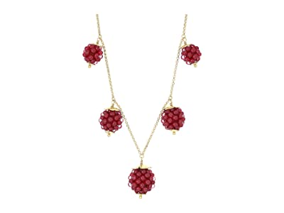 Kate Spade New York Very Berry Necklace (Burgundy) Necklace