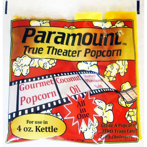 4oz Popcorn Packets - Perfect Portion Packs For 4 oz Popcorn Maker Machine Popper - Case of 24