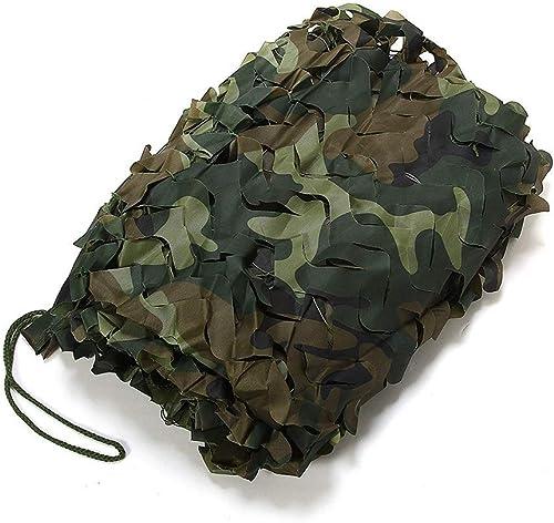 Ljdgr Filet Camo Visière Extérieure GR Camouflage Filet de Camping en Plein air décoration Pare-Soleil défense aérienne (Taille  10x10m) Armée Camo Filet (Taille   2x10m)