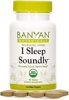 Banyan Botanicals I Sleep Soundly – Organic Herbal Sleep Supplement with Ashwagandha & Chamomile – Non Habit Forming Sleep...