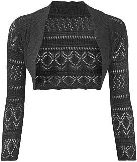 Best ladies bolero shrug crochet knitted cardigan Reviews