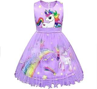Lito Angels Meisjes Eenhoorn Tule Jurk Kostuum Halloween Regenboog Partij Luxe Costumeren