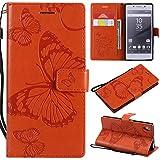 Coque pour Sony Xperia Z5 Antichoc étui Rabat Cuir Case Portefeuille FineTPU Gel Bumper Slim...
