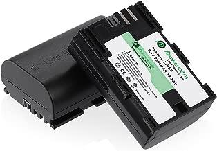 LP-E6 LP-E6N Battery (2 Pack) for Canon EOS 60D, 70D, 80D, 5D Mark II, 5D Mark III, 5D Mark IV, 5DS, 5DS R, 6D, 6D Mark II, 7D, 7D Mark II