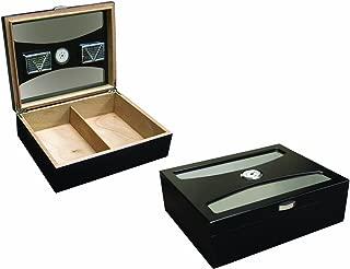 Prestige Import Group 100 Ct. Black Humidor with UV Glass