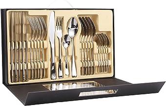 Bestekset - 24 stuks roestvrij staal Titanium Flatware Set - eetgerei Inclusief vorklepel, elegant design servies eetgerei...