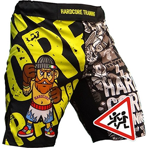 Hardcore Training Doodles Kids Boxing Shorts Kurze Hose Kinder Boxen Fitness Kampfsport Muay Thai