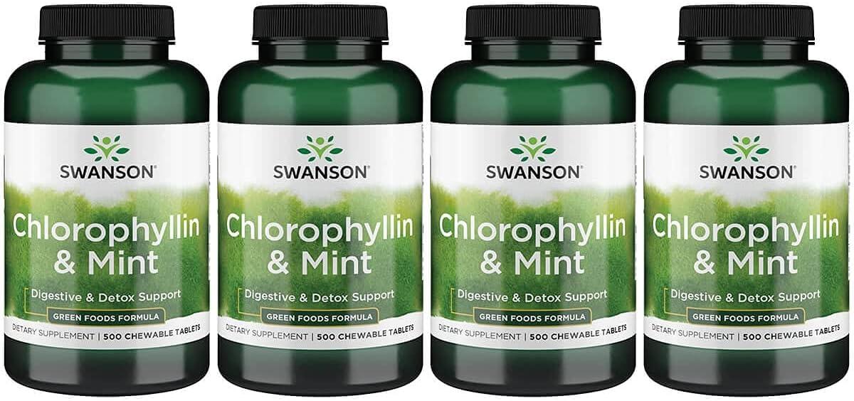 Swanson Chlorophyllin 希少 Mint 500 Pack Chwbls 送料無料 新品 4