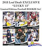 """2018 Leaf Draft EXCLUSIVE """"Lucky 13"""" Limited Edition Football Rookie Set! Features FIRST EVER ROOKIE Cards of Baker Mayfield, Sam Darnold, Josh Allen, Josh R... rookie card picture"""