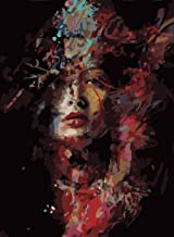 Paint by Numbers Adults and Kids Oil Painting Kit for Decorations and Gifts -Painted Woman 16x20inch (40x50cm) [No Frame]