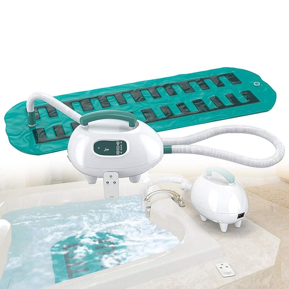 深さ化学薬品スマッシュ贅沢 スパ バブル 浴 浴槽 マッサージ師、 ポータブル スパ 空気 浴槽 防水 滑り止め マット にとって くつろぐ マッサージ 体 と 熱 強力な 3 速度 リモコン & サクションカップ 底